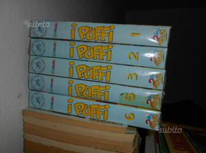 "6 Cassette VHS "" I Puffi """