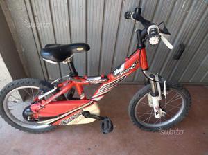 Bicicletta misura 16 bambini età 4/7 anni