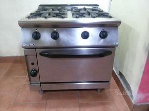 Cucina GPL 4 fuochi con forno