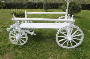 Carretto in legno per fiori o espositore posot class for Arredo giardino legno bianco
