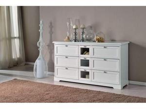 Credenza Moderna Bianco Opaco : Credenza moderna madia di design ante grigio opaco con