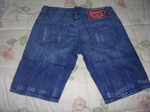 Jeans bermuda dsquared2 taglia 48