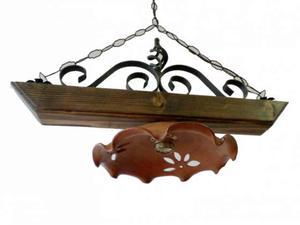 Plafoniere In Legno Rustico : Lampadari rustici ferro e legno realizzati posot class