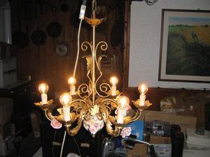 Lampadario classico vintage dorato color oro