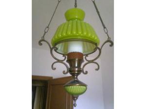 Lampadario verde
