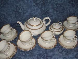 Servizio 6 o 12 tazze thè e annessi,bavaria,profilate in