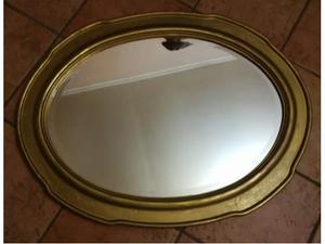 Specchio ovale cornice oro