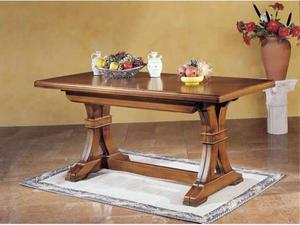 Tavolo fratino allungabile in legno noce scuro cucina