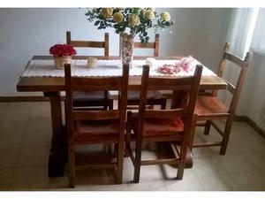 Tavolo in noce nazionale massello + 6 sedie