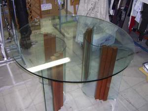 Tavolo con vetro tondo su anfora portafiori posot class - Tavolo tondo in vetro ...