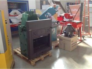 Termocamino con forno legno pellet ftl posot class for Bruciatore a sansa usato