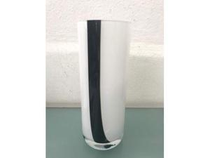 Vaso vetro opaco strisce nere m. nason. c