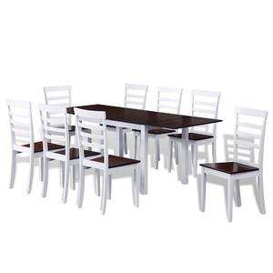 vidaXL Tavolo da pranzo in legno con estensione 8 sedie