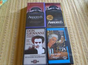 4 videocassette vhs originali su mozart