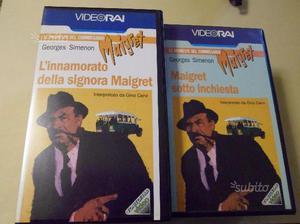 7 videocassette vhs originali l'ispettore maigret