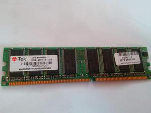 Banco memoria ram 1GB 400 MHz