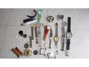 LOTTO di vari pezzi di ricambio per orologi