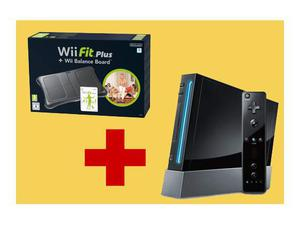 Nintendo Wii - Console Wii Fit Plus Pack, Nera