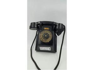 Telefono bachelite nero da parete
