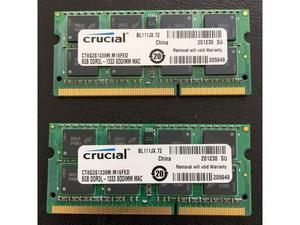 2 RAM Crucial da 8 Gb DDR3L  MHz - Apple Mac