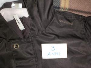3 anni giacca impermeabile interno in pile