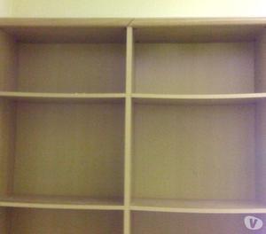 Grande libreria da parete in color noce