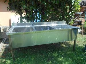 Lavello inox foster 120 cm 2 vasche e | Posot Class