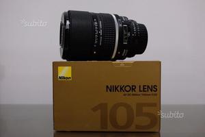 Nikon 105mm F2 Defocus Control come nuovo Nikkor