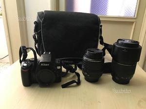 Nikon D60 completa di obiettivi e borsa