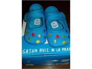 Scarpine neonata azzurre nuove Agatha Ruiz de La Prada num.