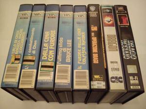 Collezione videocassette vhs bruce lee