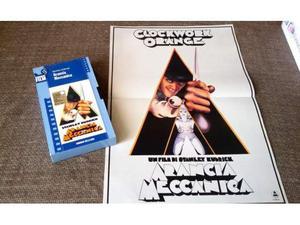 VHS - ARANCIA MECCANICA + locandina del film