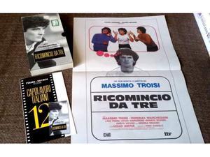 VHS - RICOMINCIO DA TRE - L'Unità N.12 + locandina del film