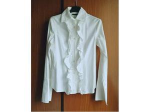 Camicia in cotone con volant