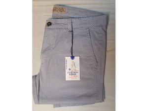 Pantaloni uomo primavera-estate nuovi grigio fantasia Tg.52