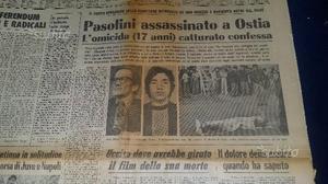 Pasolini assassinato corriere della sera originale