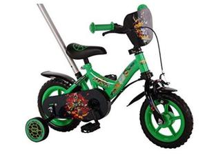 Bici bicicletta bambino turtles ninja 10 pollici in acciaio