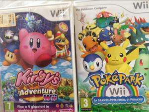 Kirby's adventure e pokepark Nintendo Wii