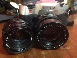 Leica R8 completa di ottiche