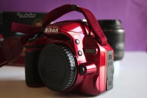 Nikon D Fotocamera Digitale Reflex Rossa