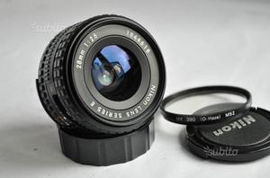 Ottica Nikon Series e 28mm f/2.8, AIS, F Serie E