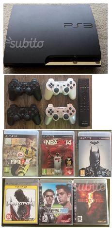 PS3 Slim + Joypad + Giochi