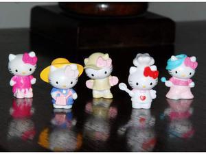 Statuine Hello Kitty, collezione 5 miniature, mini 3cm in
