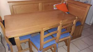 Panca angolare tavolo e 3 sedie della lacedelli posot class