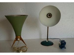 2 bellissime lampade anni 50 una a cono, una da tavolo