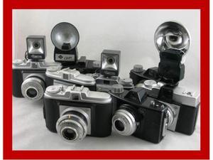 8 macchine fotografica vintage + accessori