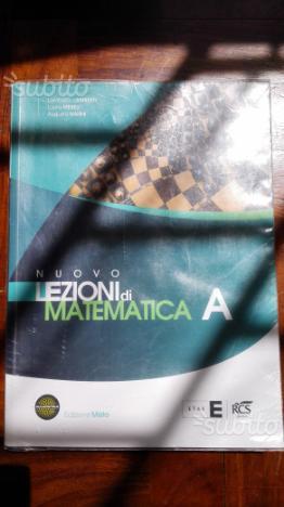 Libri scolastici Matematica