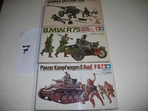 Lotto 7 - composto da 3 kit militari 1/35