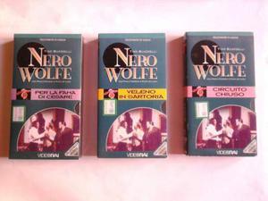 Nero wolfe -tino buazzelli -3 vhs b/n-video rai (nuovi)