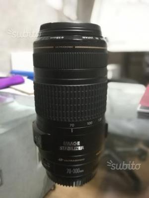 Obiettivo Canon tele  is usm stabilizzato